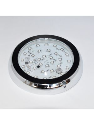 SPOTGUN PAR 36 RBG 24V - SELFROGAMMED - 10 RGB CHANNELS IP67-COMPLETE WITH CHROME AND GLASS RING