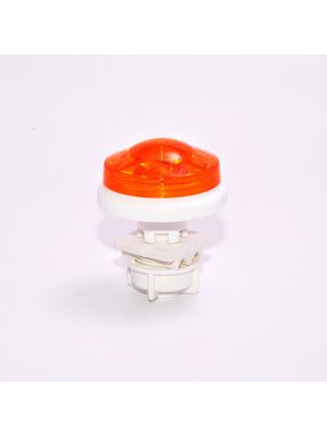 Fairground lighting - Small Flat Cabochon LED E10 - FLUO ORANGE