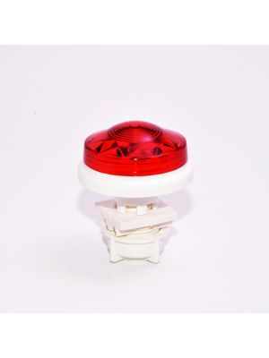 Small Flat Cabochon light LED E10 - RED