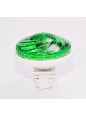 LIGHTS FOR ATTRACTIONS FOR FUN PARKS - CABOCHON TURBOLIGHT FLAT + LAMPHOLDER AND LED E14 24V 1.2W (10W) -IP67-12 COLORS